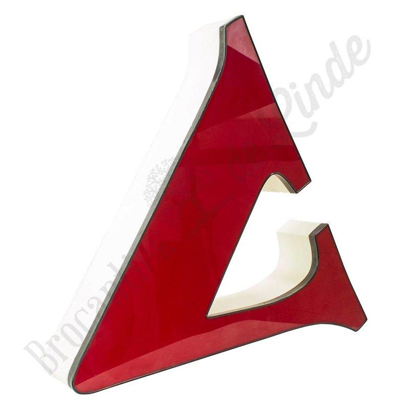 Grote rode letter V
