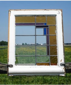 68,5 x 55,5 cm - Glas in lood raam No. 3