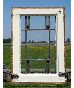38,5 x 55 cm - Glas in lood raam No. 4