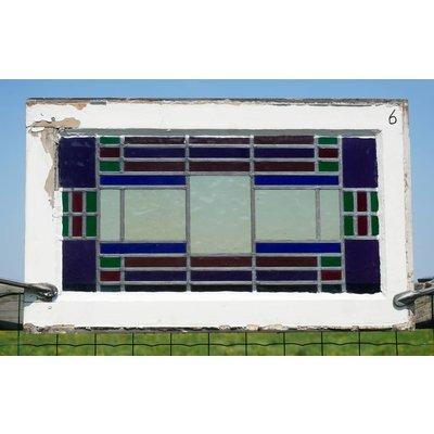 46 x 76 cm - Glas in lood raam No. 6