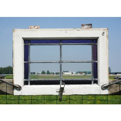 39 x 55,5 cm - Glas in lood raam No. 8