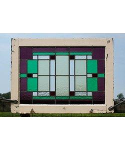 57 x 78 cm - Glas in lood raam No. 18