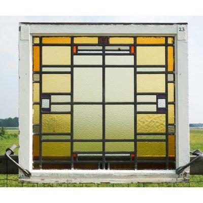 78 x 83 cm - Glas in lood raam No. 23