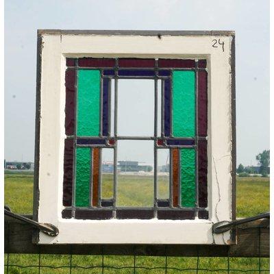 Glas in lood raam No. 24