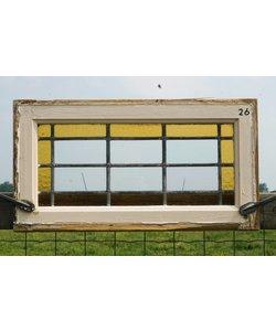 32,5 x 61 cm - Glas in lood raam No. 26