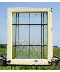 68 x 54 cm - Glas in lood raam No. 29