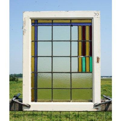 81 x 63 cm - Glas in lood raam No. 30
