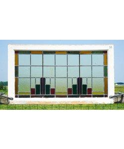 60,5 x 107 cm - Glas in lood raam No. 32