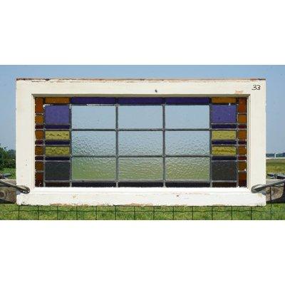 48 x 94,5 cm - Glas in lood raam No. 33