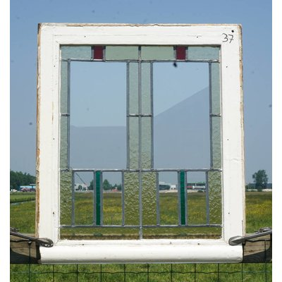 66 x 76 cm - Glas in lood raam No. 37
