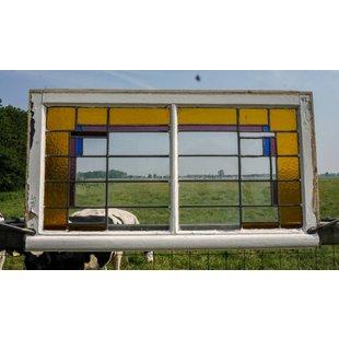 65,5 x 118,5 cm - Glas in lood raam No. 42