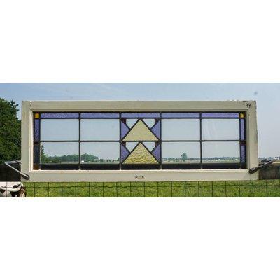 43 x 127 cm - Glas in lood raam No. 44