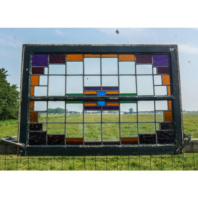 Glas in lood raam No. 45