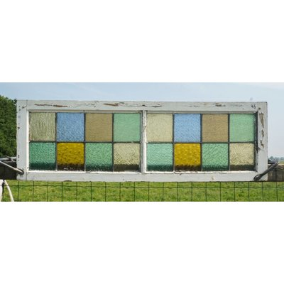 40,5 x 127,5 cm - Glas in lood raam No. 46