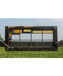 40 x 85 cm - Glas in lood raam No. 47