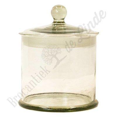 Glazen vintage pot
