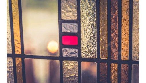 Oude en antieke glas in lood ramen