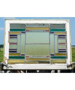 63 x 82,5 cm - Glas in lood raam No. 48