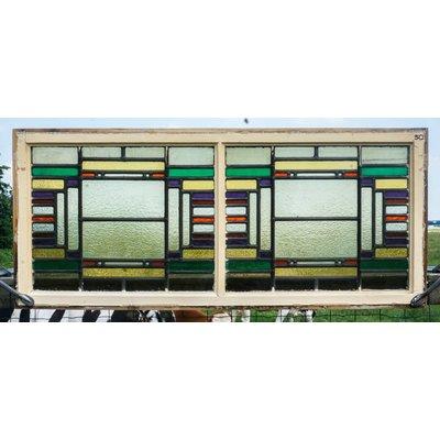 53,5 x 123 cm - Glas in lood raam No. 50
