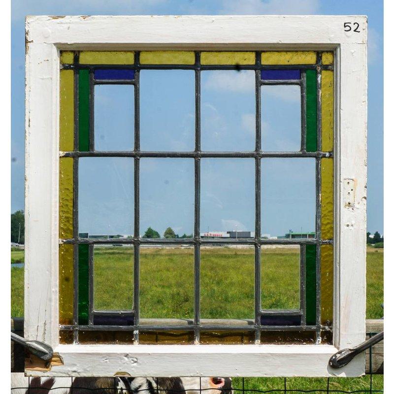 Glas in lood raam No. 52