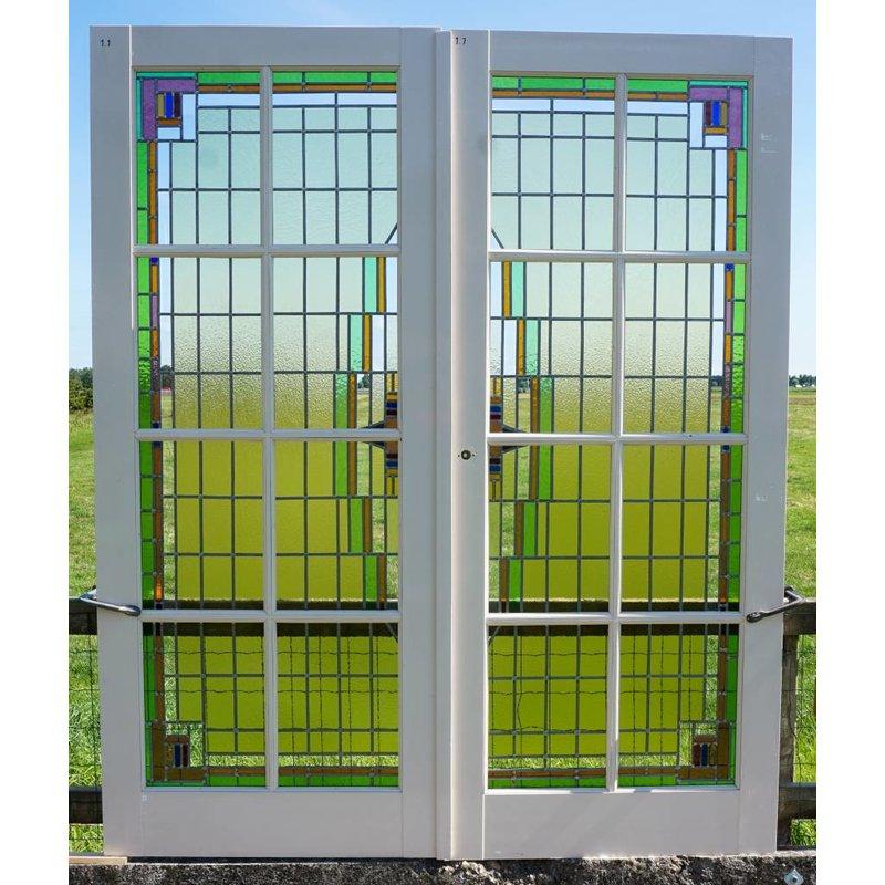 Glas in lood deuren No. 1