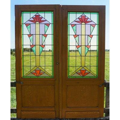 206,5 x 81,5 cm - Glas in lood deuren No. 3