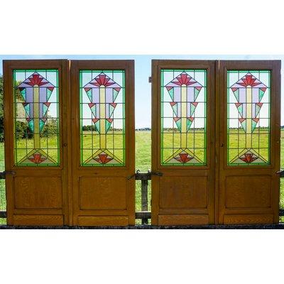 Glas in lood deuren No. 3 Set van 2
