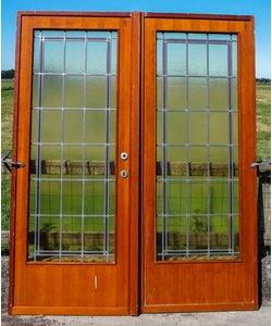 201,5 x 168 cm - Glas in lood deuren No. 5