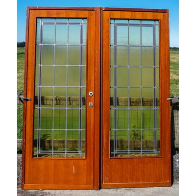 201,5 x 84 cm - Glas in lood deuren No. 5