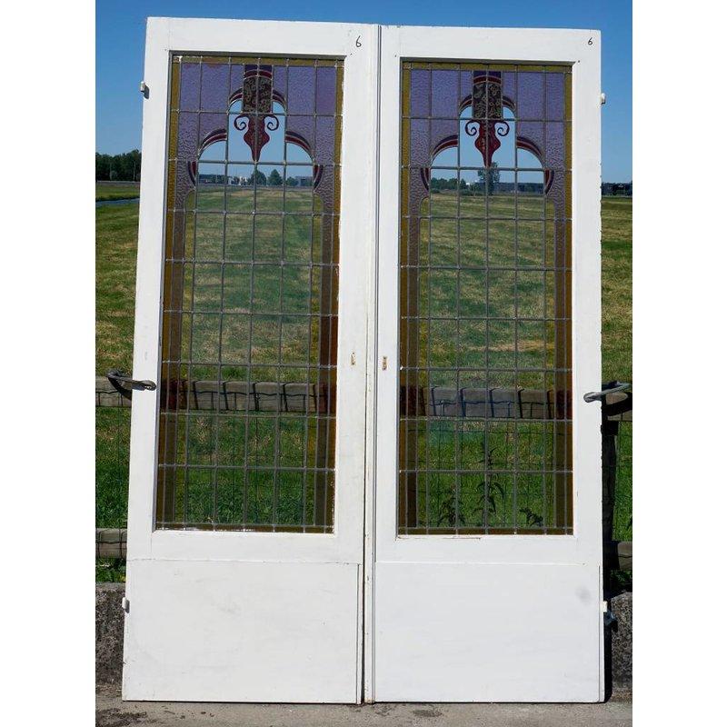 Glas in lood deuren No. 6