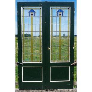 211 x 135 cm - Glas in lood deuren No. 8