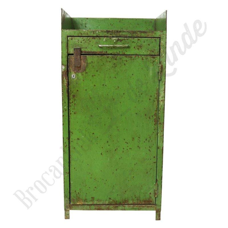 Groene industriële kast van metaal