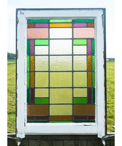 87 x 57 cm - Glas in lood raam No. 54