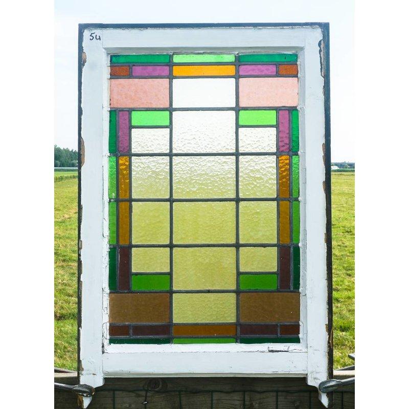 Glas in lood raam No. 54