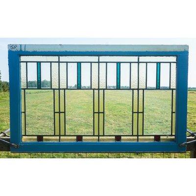 69 x 116 cm - Glas in lood raam No. 58