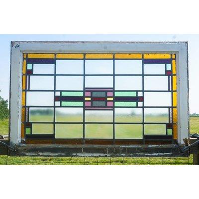 102,5 x 66 cm - Glas in lood raam No. 60