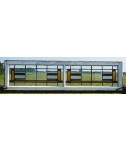 40 x 156 cm - Glas in lood raam No. 62