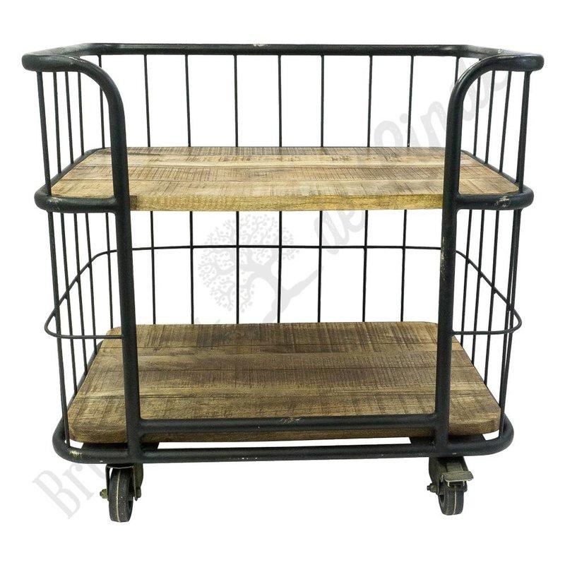 Industriële trolley ''Black Iron''