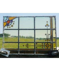 42,5 x 30,5 cm - Glas in lood raam No. 64