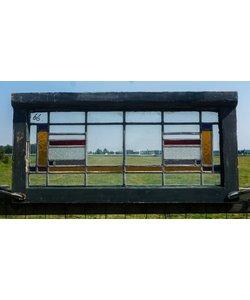 40 x 82,5 cm - Glas in lood raam No. 66