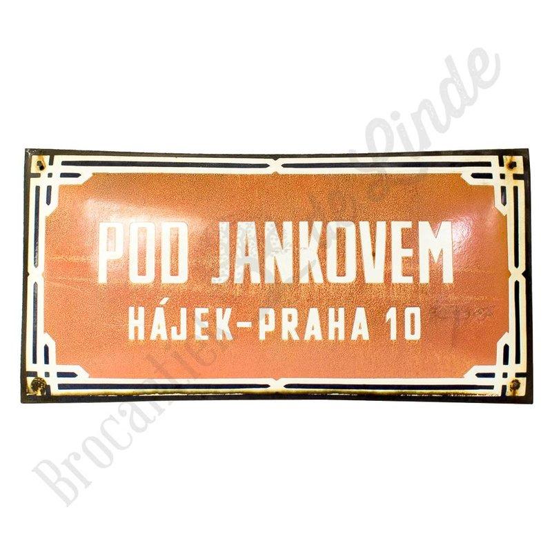 Tsjechisch bord 'Pod Jankovem'