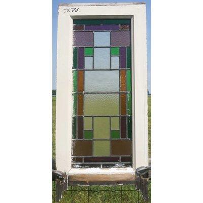 80,5 x 40 cm - Glas in lood raam No. 76