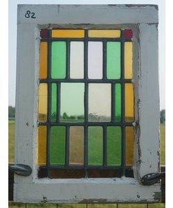 48,5 x 35 cm - Glas in lood raam No. 82