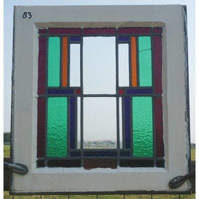 51 x 47,5 cm - Glas in lood raam No. 83