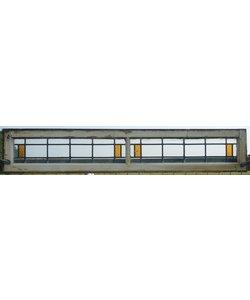 27 x 152,5 cm - Glas in lood raam No. 84