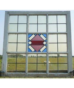 101 x 102,5 cm - Glas in lood raam No. 85