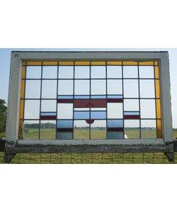 75 x 118 cm - Glas in lood raam No. 86