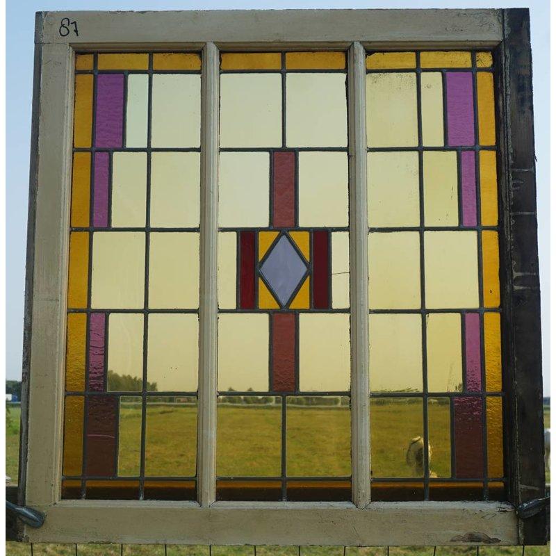 Glas in lood raam No. 87