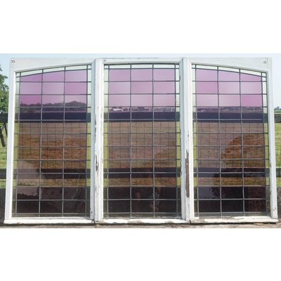 150 x 249 cm - Glas in lood ramen set.