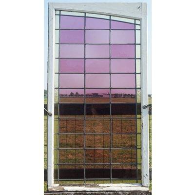 150 x 83 cm - Glas in lood raam No. 95